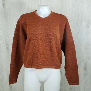 Chris Triola Size M Boxy Thick Pullover Sweater